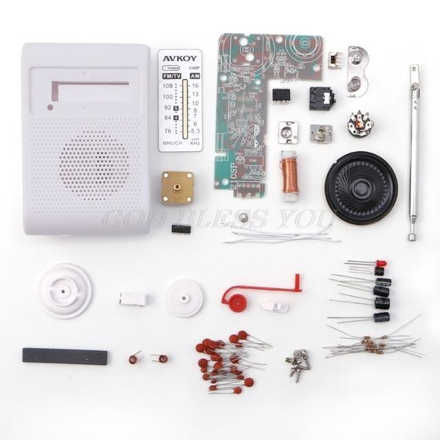 CF210SP AM/FM Stereo zestaw radia DIY elektroniczny zestaw montażu zestaw dla uczących się Drop Shipping