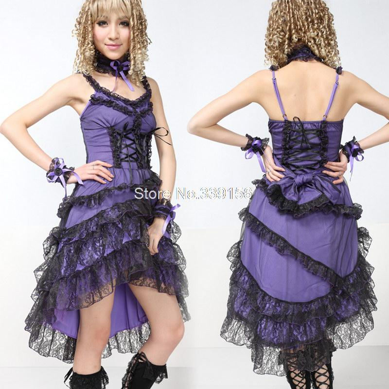Red/Black/Purple Gothic Punk Lolita Princess Dress Straps Backless ...