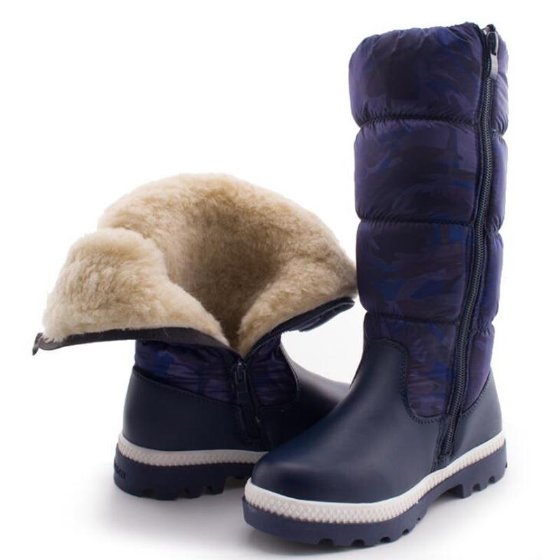 40e3a267f 2017 invierno caliente de la felpa niños botas niños botas de nieve botas  impermeables antideslizantes girls