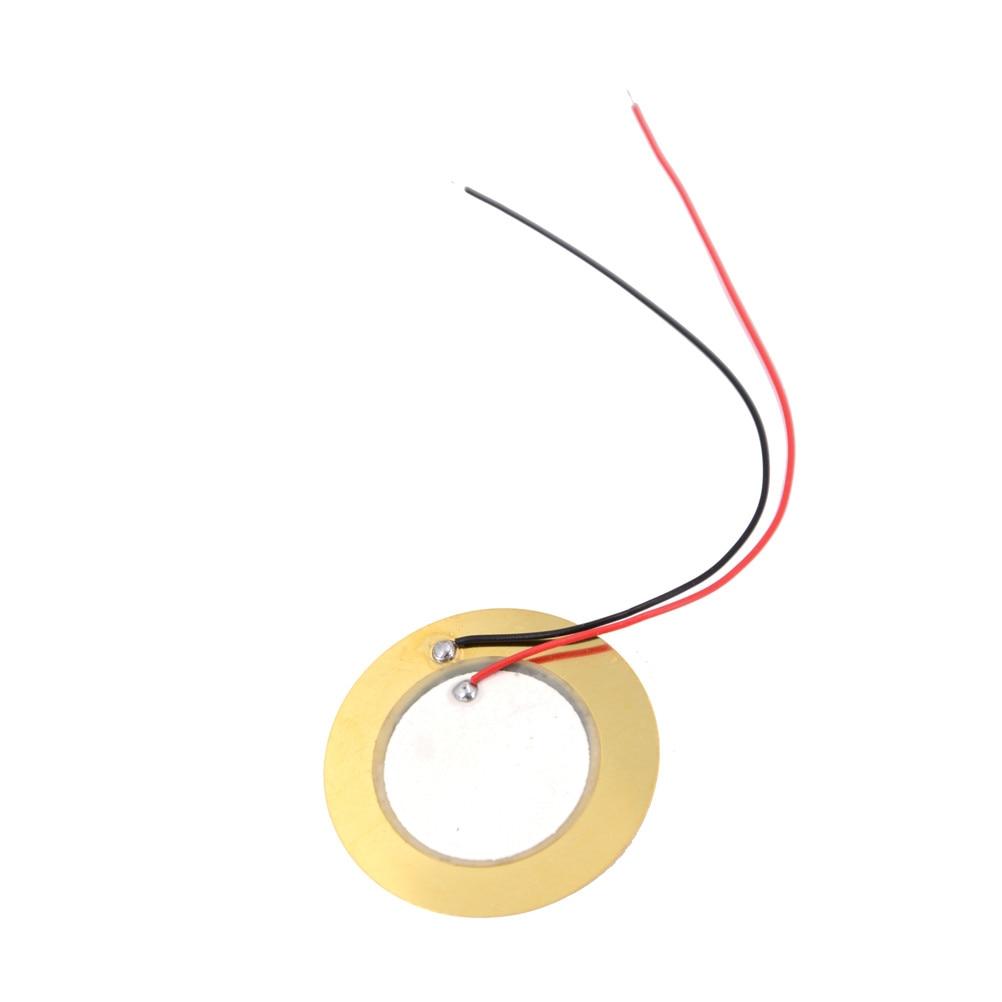 20PCS 18mm Piezo Elements Sounder Sensor Trigger Drum Disc wire copper