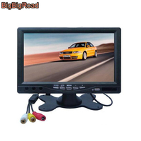 BigBigRoad 7 Inch Rear View Color LCD Car Monitor / Backup Parking Reversing HD Display Screen / Rearview Mirror