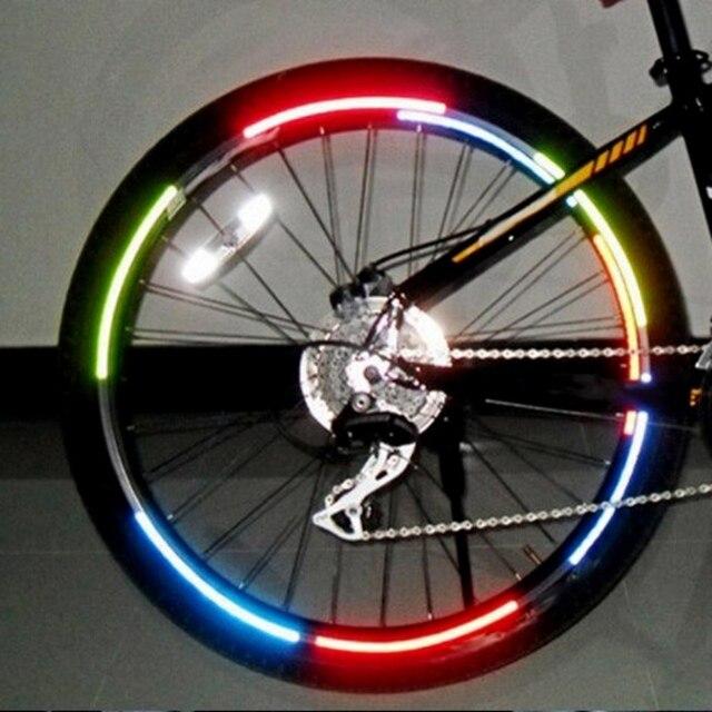 Us 105 Aliexpresscom 6 Farben Fahrrad Reflektor Fluoreszierende Bike Aufkleber Fahrrad Fahrrad Rad Kante Reflektierende Aufkleber Aufkleber