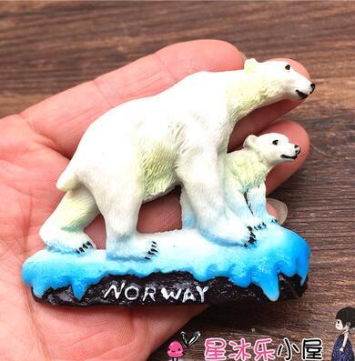 Norway The polar bear 3D Souvenir Travel Fridge Magnet
