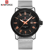 Top Luxury Brand NAVIFORCE Men Fashion Casual Business Watches Men S Quartz Clock Male Stainless Steel