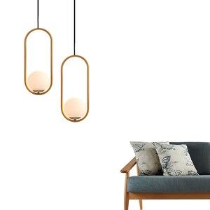 Image 5 - Nordic bola de vidro pingente luz moderna redonda global pendurado luz/luminária pingente decorativo