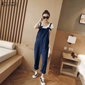 ZANZEA 2016 Women Jumpsuits Casual Loose Overalls Elegant Pockets Strapless Playsuits Solid Long Pants Rompers Oversized S-5XL