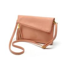 Famous Brand Design Small Fold Over Bag Mini Women Messenger Bags Leather Crossbody Sling Shoulder Bags