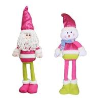 Retractable Christmas Santa Claus/Snowman Dolls Standing Navidad Figurine Christmas tree Ornaments Kids Christmas Gifts Best Toy