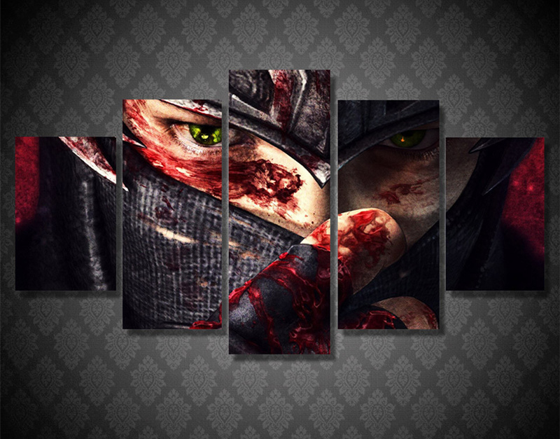 5Peice Wall Painting Movie Poster Game Characters Wall Art Canvas Printed Painting Picture For Living Room Prints Decor Unframed
