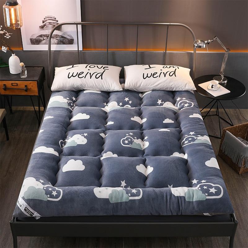 Schlafzimmer Möbel Single/königin/könig Winter Verdicken Schlafzimmer Bettwäsche Matratze Schlafgemach Schlaf Kissen Pad Berber Fleece Schlafsaal Tatami Matten