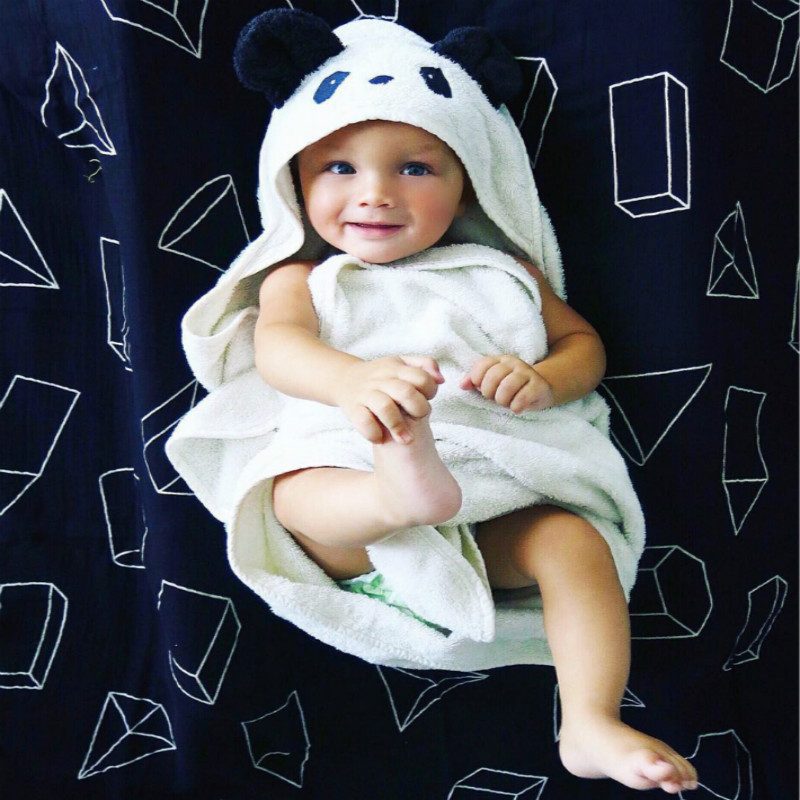 Baby Blanket Cottons Baby Beach Gown Child Bathrobe Beach Towels Baby Cloak Cape Baby Bath Towel