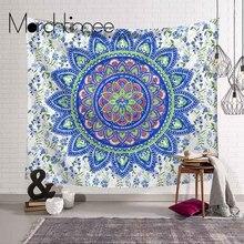 Blue Art Mandala Tapestry Wall Hanging Sandy Beach Throw Rug Blanket Camping Tent Travel Mattress Bohemian Sleeping Pad Tapestry