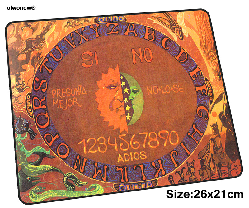 ouija board mousepad 26x21cm gaming mouse pad big gamer mat cool new game computer desk padmouse keyboard HD pattern play mats