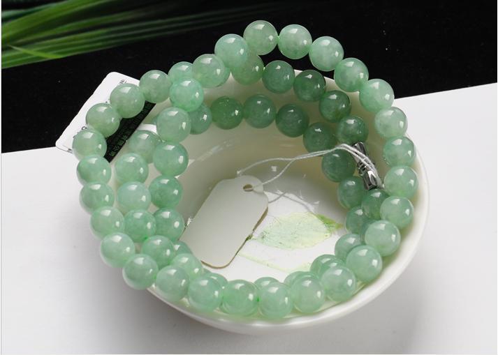 Высокое качество красивое зеленое ожерелье ювелирные изделия зеленый бисер ожерелье