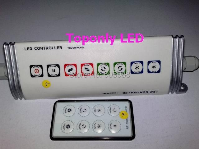 Trojúhelníkový IP65 vodotěsný ledvinový ovladač s dotykovým rozhraním a 8-klíčovým RF dálkovým ovládáním DC12 / 24v 216w / 432w pro normální ledový led