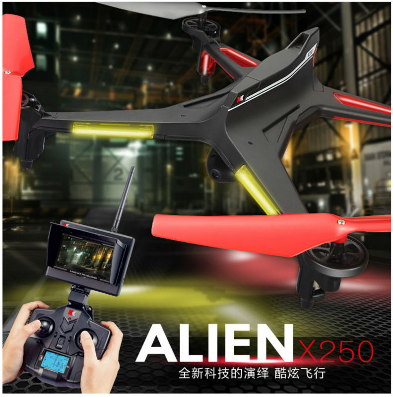 RC Drones X250 FPV Real-time high-resolution 2.0MP HD Camera 4CH 6 Axis RC Quadcopter With real-time graph led display VS V686G funrc qfo 250 fpv high visibility