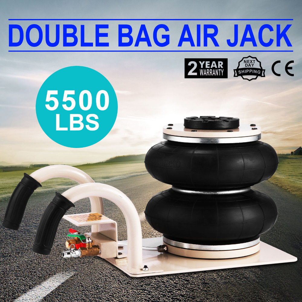 5500 LBS Double Bag Air Jack 2.5 Ton Lifting Jack Pneumatic Air Jack 2.5T