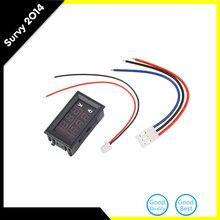 DC 100V 10A Voltmeter Ammeter Red LED Amp Dual Digital Volt Meter Gauge Analog Volt Ammeter 0.28″ Blue Red Dual Display