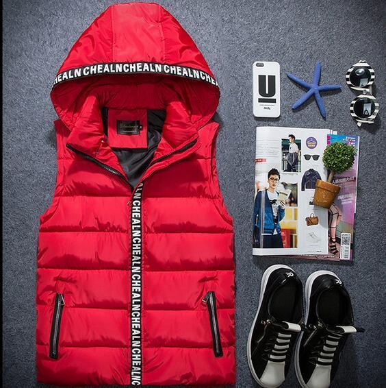 Cheap wholesale Tide new 2016 autumn winters han edition pure color cultivate one's morality men's leisure vest hot sale