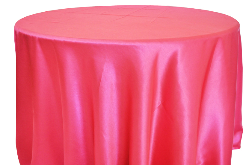 High Quality Free Shipping 10pcs Cheap Hot Pink 70u0027u0027/90u0027u0027/108u0027u0027/120u0027u0027/132u0027u0027 Round Satin Table  Cloth Banquet Table Cover Wedding Table Linens