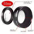 Neewer Digital 55mm Macro Wide Angle Lens 0.45X High Definition for Sony Alpha A77 A280 A290 A380 A390 A580 A590 DSLR Camera+Bag