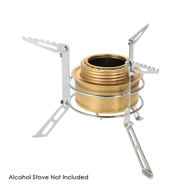 Portable Stainless Steel Camping Stove Stand Outdoor Alcohol Stove ...