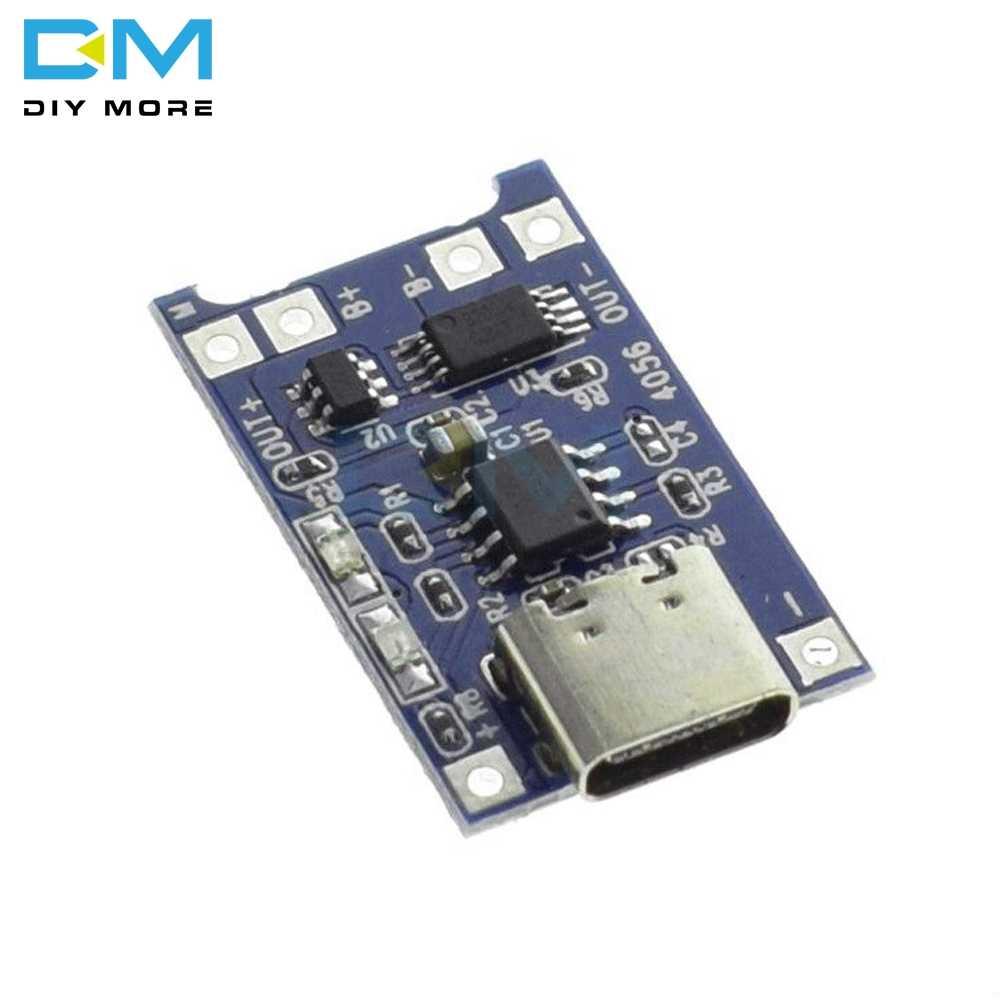 Loại C/Micro/Mini USB 5V 1A 18650 TP4056 Pin Lithium Sạc Ban Sạc Module bảo vệ Kép Chức Năng 1A Li-ion