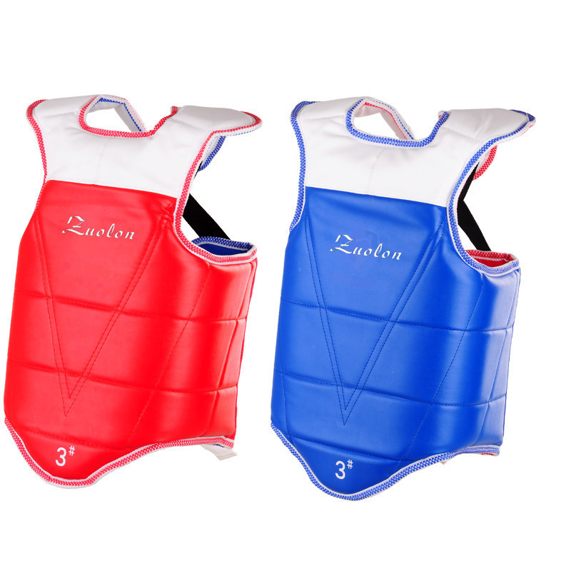 New Martial Arts Reversible Chest Guard Body Protector Taekwondo Sparring Gear