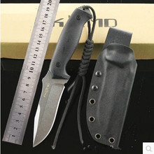 High Hardness Fixed Tactical Hunting Knife Stone Polished D2 Blade G10 Handle 61HRC Outdoor Survival Camping Tools