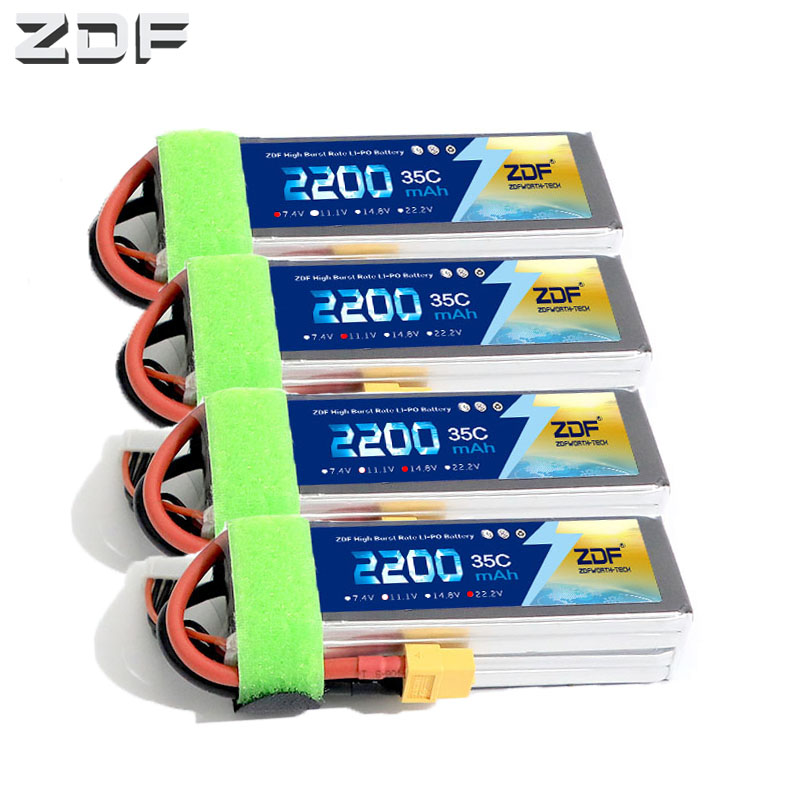 ZDF RC <font><b>LiPo</b></font> Battery 2S 3S 4S <font><b>6S</b></font> 7.4V 11.1v 14.8v 22.2v <font><b>2200mAh</b></font> 35C 70C for RC airplane RC car RC boat Battery image