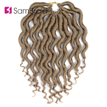 SAMBRAID Faux Locs Curly Crochet Braids Hair Extension 12 Inch Locks Goddess  Synthetic Braiding Hair For Women  Crochet Hair 12inch goddess faux locs curly ends short wavy crochet braids 12strand pack afro synthetic ombre crochet braiding hair extension