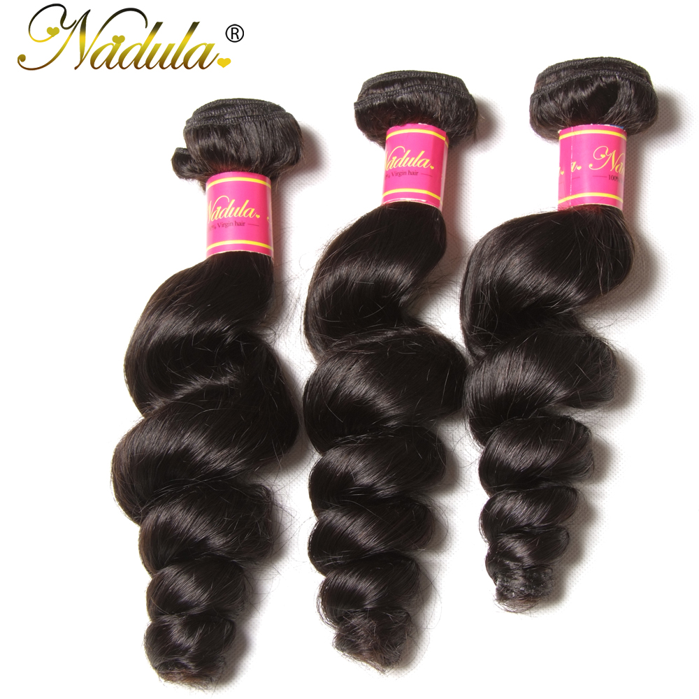 Brazilian 100% Human Hair Weave Bundles Natural Color Loose Wave 16-26inch Non-Remy Hair Free Shipping