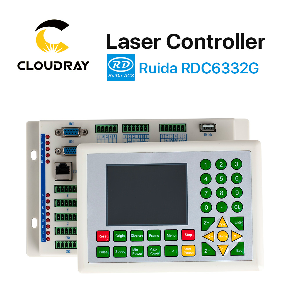 Cloudray Ruida RD RDC6332G 6332M Co2 Laser DSP-controller voor lasergravure en snijmachine RDC DSP 6332G 6332M