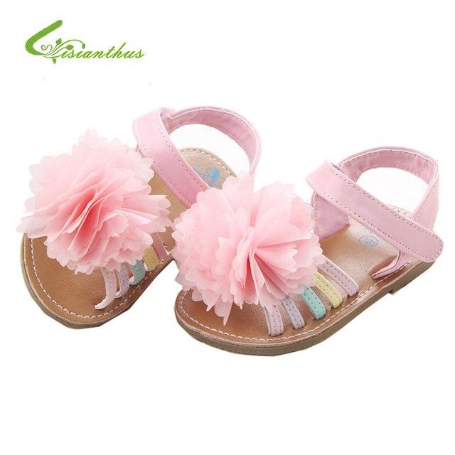 2018 Été Bébé Fille Floral Filles Sandales Princesse Enfants Chaussures  Pour Bébé Filles Cool Enfants Anti