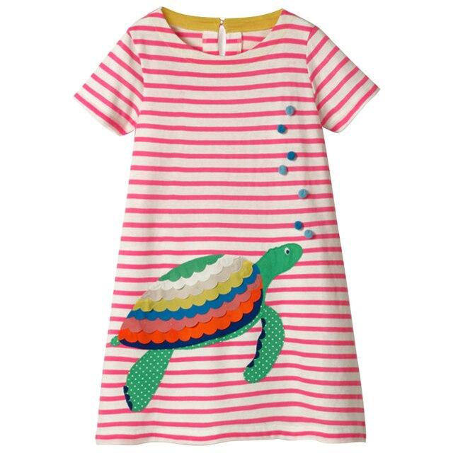 Girl's Mermaid / Turtle Patchwork Style Dress 2