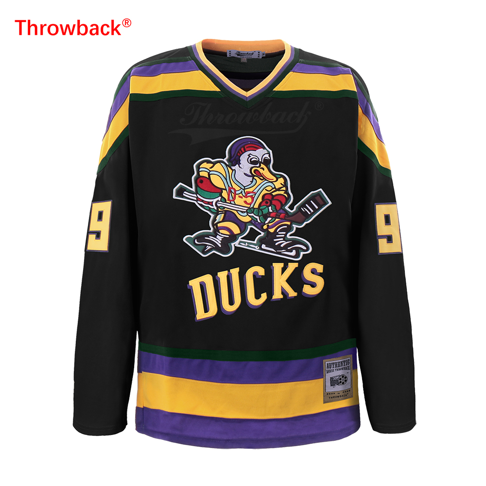 d128292702b Αγορά Ομαδικά αθλήματα   Throwback Jersey Men's mighty ducks Jersey ...