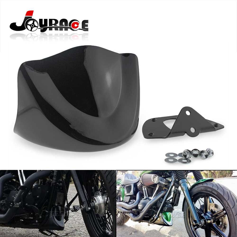 Motorcycle Front Chin Air Dam Spoiler Fairing for Harley Dyna Models 2006 Up