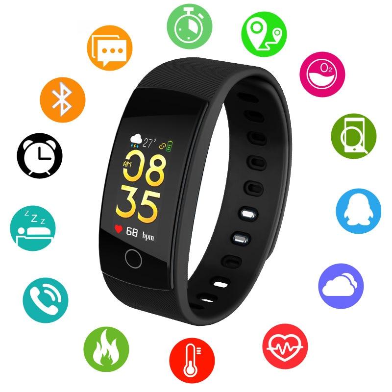 Orologi Smart Bluetooth Smartwatch per Android iOS Phone Braccialetto All'aperto di Sport Pedometro Calorie Smartband IP67 Orologio Da Polso