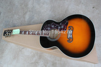 Free shipping hot Wholesale New SJ200 Guitar natural color acoustic Guitar .