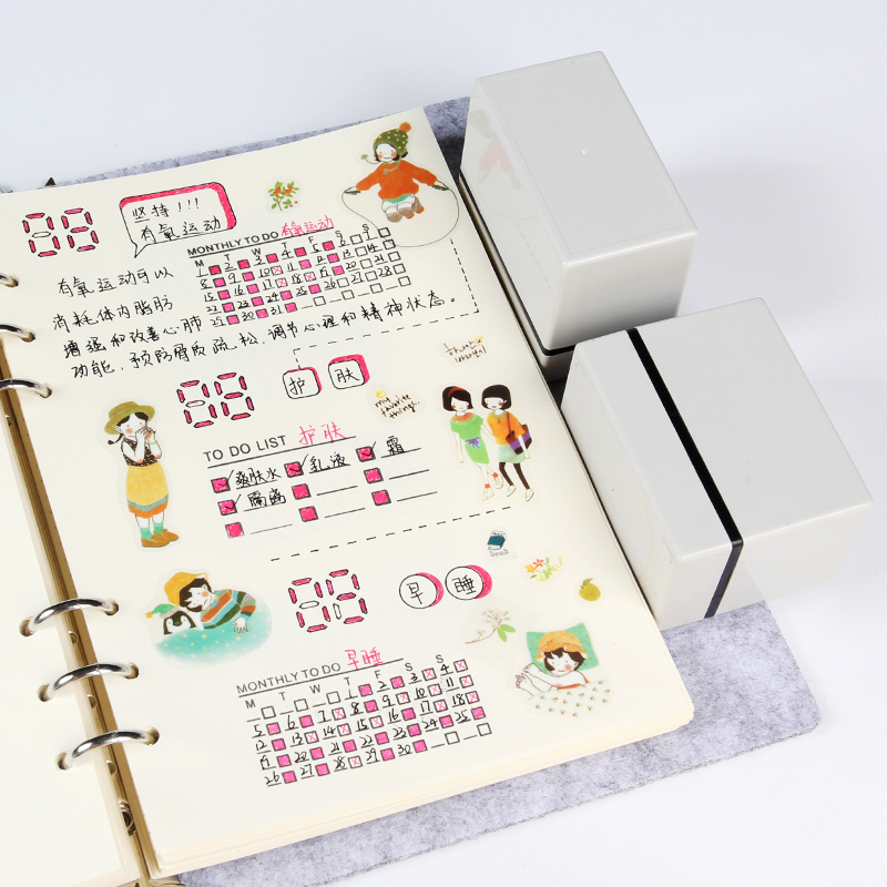 Creative To Do List Monthly Weekly Plan Stamps For Scrapbooking Day Planner Notebook Diary Diy Tool Accessories School Supplie jamie notes cute cat stamps roller date stamps to school seal retro stamp notebook personal diary diy accessories 2015 2026 year
