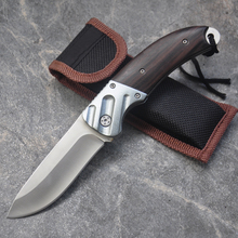 New Folding Knife 7Cr17Mov Blade Wood Handle 15cm Outdoor Survival Camping Mini Pocket Knife Wood Handle Fishing EDC knives