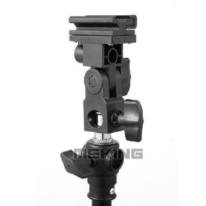Image 4 - Meking Flash Hot Shoe Speedlite Umbrella Mount Holder Swivel for Light Stand Flash Bracket B For Trigger Hot Shoe Flash