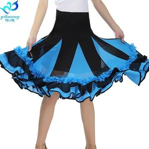Image 5 - Hot Sale Ballroom Dance Costume Skirt Tango Modern Standard Performance Costume Waltz Salsa Rhythm Dress Elastic Waistband