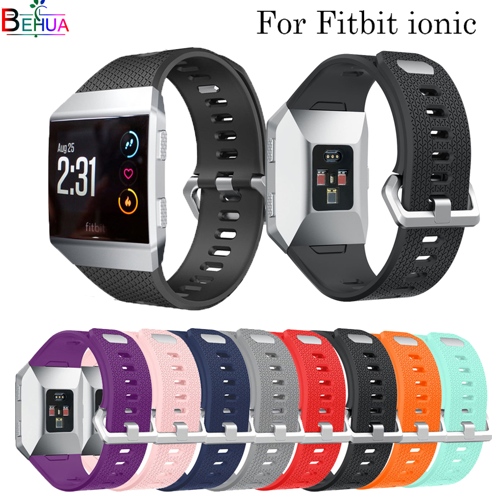 Watch band For Fitbit ionic silicone sport watch bands wristband Replacement high quality smart watch strap For Fitbit ionic L/S|Watchbands|   - AliExpress