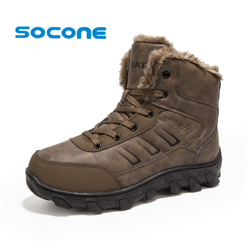 SOCONE Big Size Winter Hiking Shoes Men Waterproof PU Leather Shoes Adventure Outdoor Camping Boots For Men Size 14 Treking Shoe 2016 autumn winter hiking shoes men mountain climbing boots big size 11 12 13 outdoor shoes men military shoe waterproof sneaker