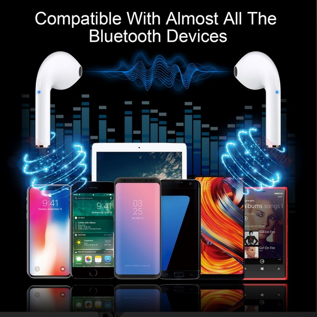 Bluetooth Earphones Headphones For iPhone XS Max X Phone Mini Twins Earbuds Wireless Earphone Headset Headphone In Ear