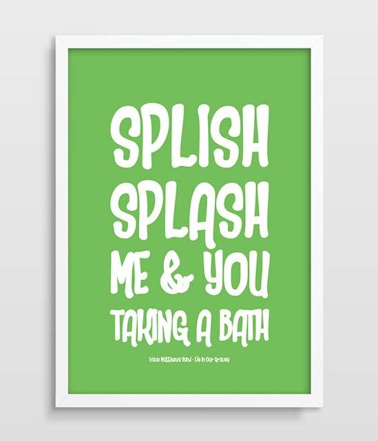 US $9.6 50% OFF|Badezimmer Dekor Bad Kunst Bad Dave Matthews Band Bad  Kunstdruck Songtexte DMB Minimalistischen Poster Bathtime malerei in  Badezimmer ...