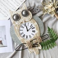 Vintage Owl Clock Wall Clock Watch Decoration Wall Decoration Home Bedroom Clock American Country Style Wall Clock
