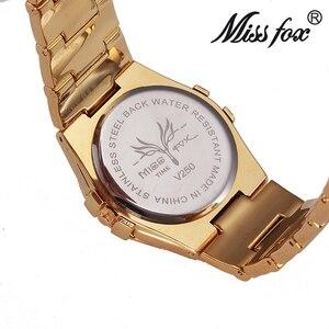Image 5 - Bayan tilki kadın saatler kadınlar bilek lüks 2017 sıcak bayanlar altın İzle taşlar ile ünlü markalar Logo moda rahat saatler