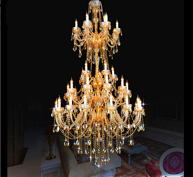 Crystal chandelier For Living Room lustre sala de jantar cristal Modern Chandeliers Light Fixture Wedding Decoration 3 sizes